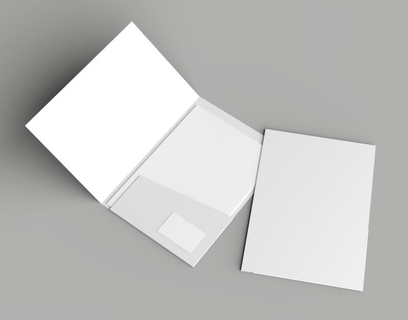 ポケット付のパンフレットデザイン