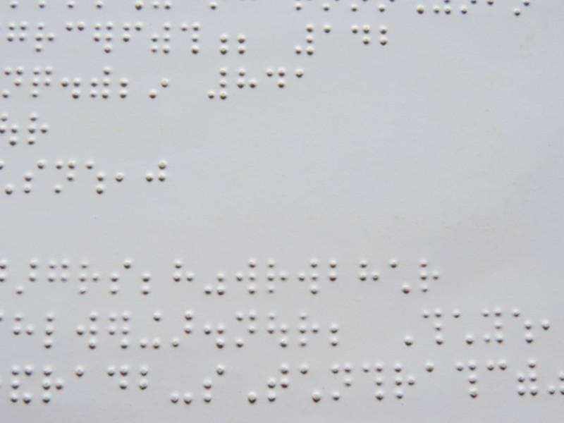 エンボス・点字に関するポスター