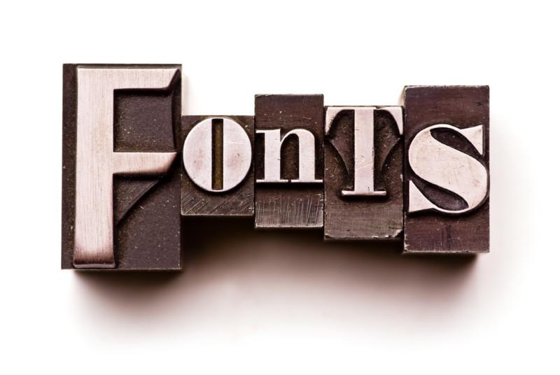 フォントの種類について