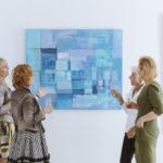 海外の美術展のフライヤーデザイン作成例