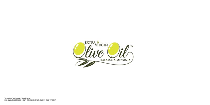オリーブオイルの商品ロゴデザイン