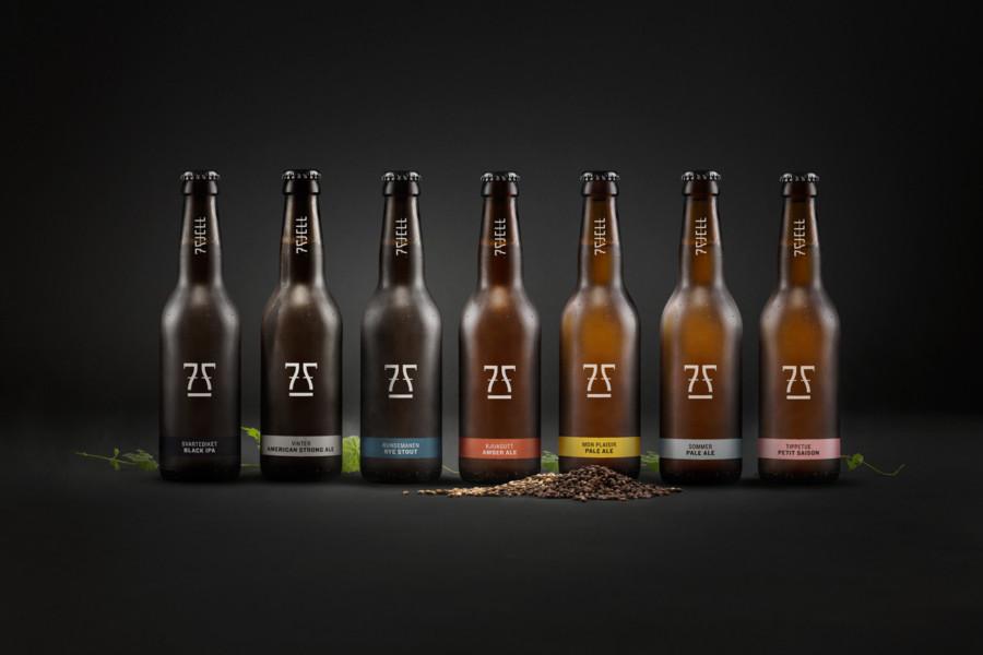 クラフトビールメーカーのロゴ作成例