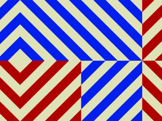 アバンギャルドな配色のデザイン作成例