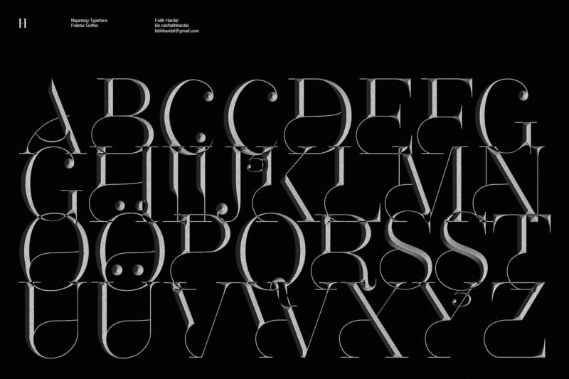 立体的な書体デザイン2