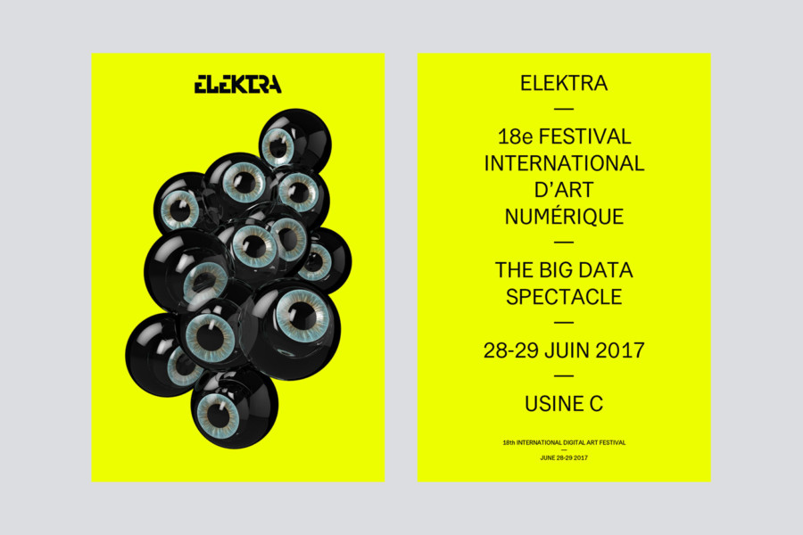 国際デジタルアートフェスティバルのポスターデザイン