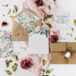 花を効果的に使った招待状(インビテーション)のデザイン