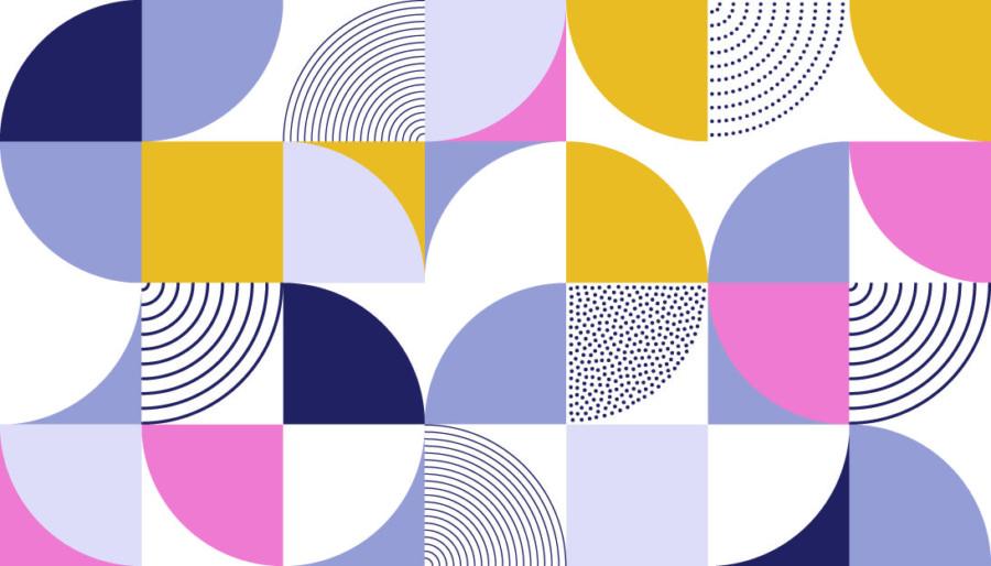 幾何学的な形を組み合わせたロゴについて