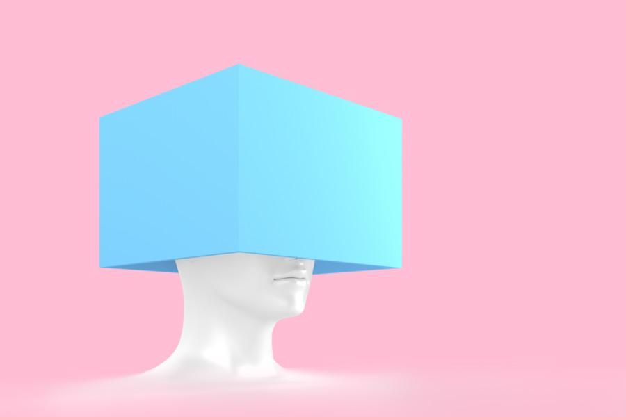 見えない表情で想像力をかきたてるイラストレーションについて