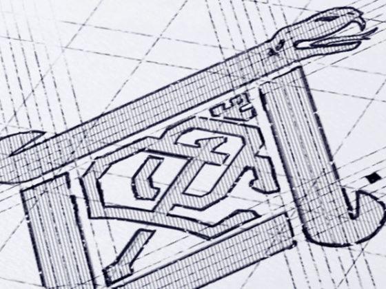 幾何学的な要素を用いたロゴデザイン作例