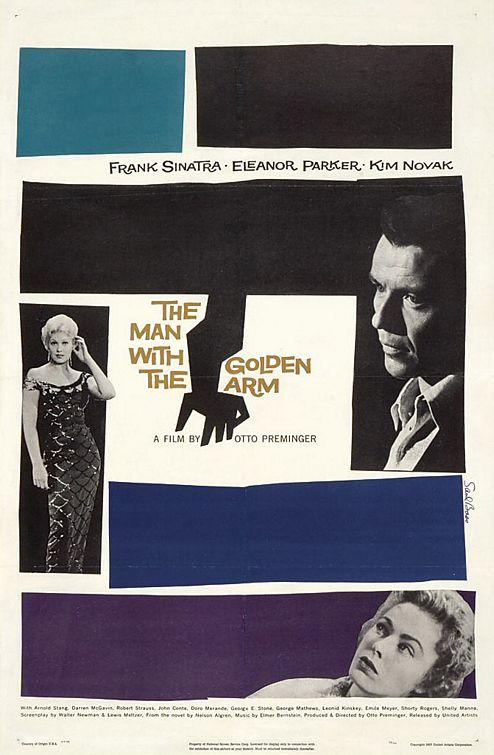 映画黄金の腕のポスター