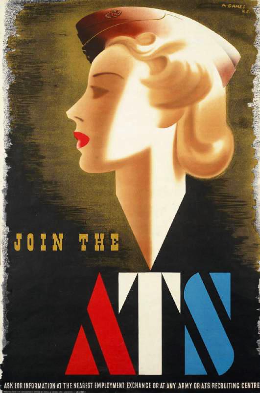 女性部隊のリクルートポスター