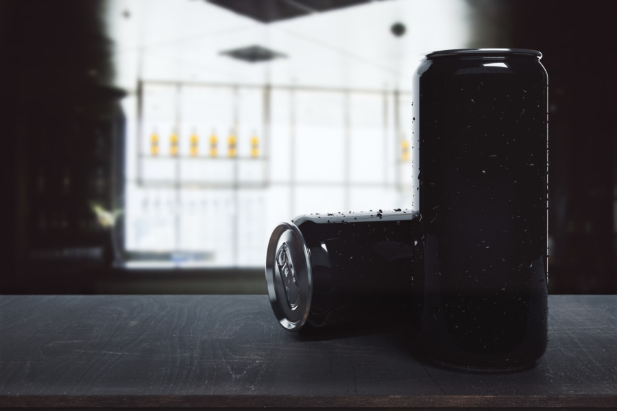 黒を効果的に使った缶のデザイン