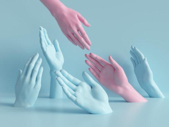 身近な題材「手」を印象的に使用したポスターについて