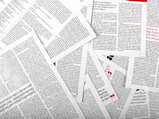 誌面の構成が斬新な新聞のレイアウト
