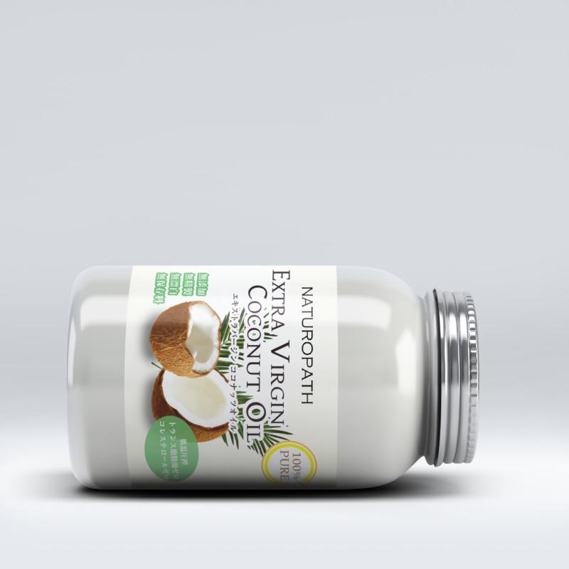 ココナッツオイルの商品ラベルデザイン3