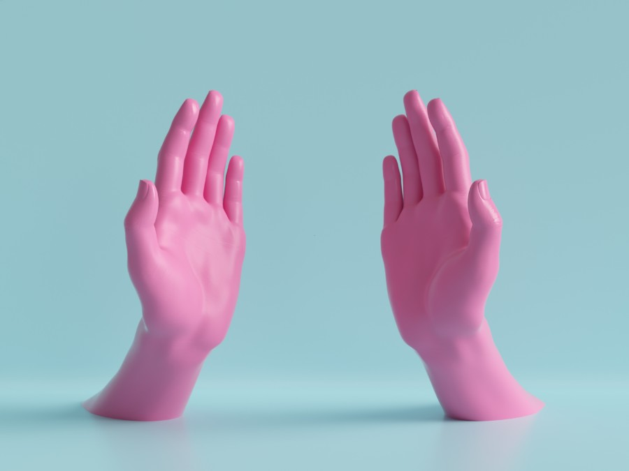 手だけで表現する、印象的なポスターデザインについて