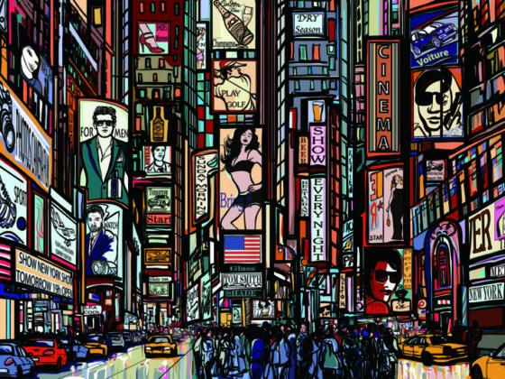 ニューヨークの看板デザイン作成例