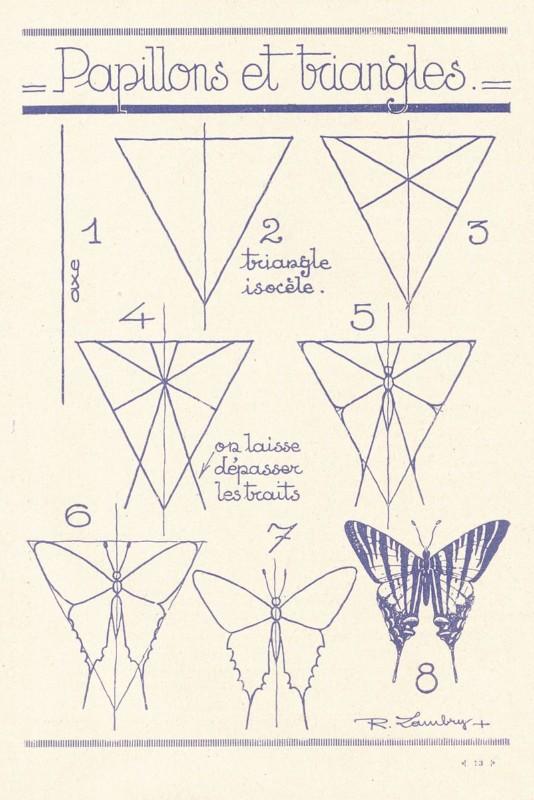 蝶の描き方1