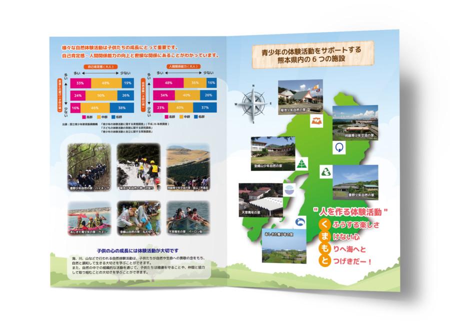 大自然のこども体験活動についてのパンフレット_A4サイズ