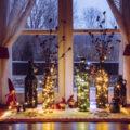 心温まるクリスマスのヴィンテージ広告デザインの作品例