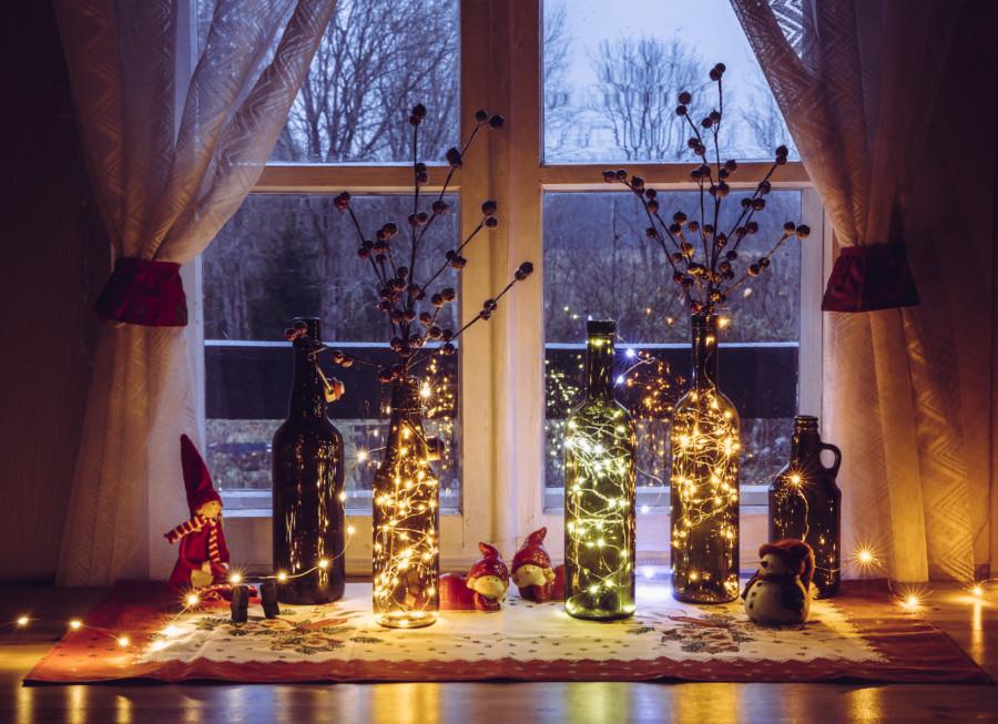 心温まるクリスマスのヴィンテージ広告デザイン作成例