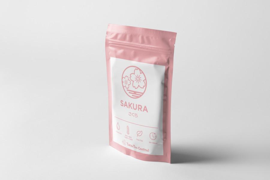 桜をイメージしたお茶のパッケージデザイン2