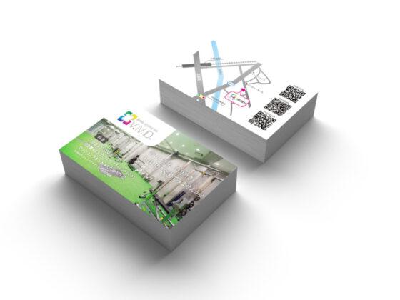 スポーツジムのショップカードデザイン