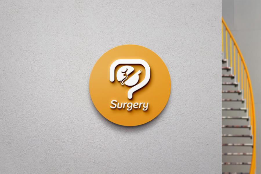 消化器外科のユニフォームロゴデザインの展開例