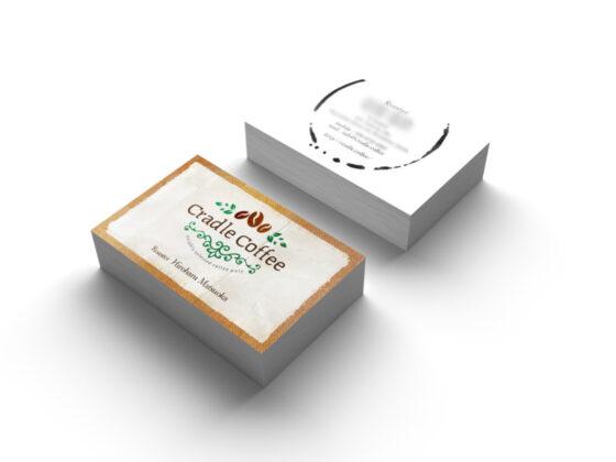 コーヒーロースタリーの名刺デザイン