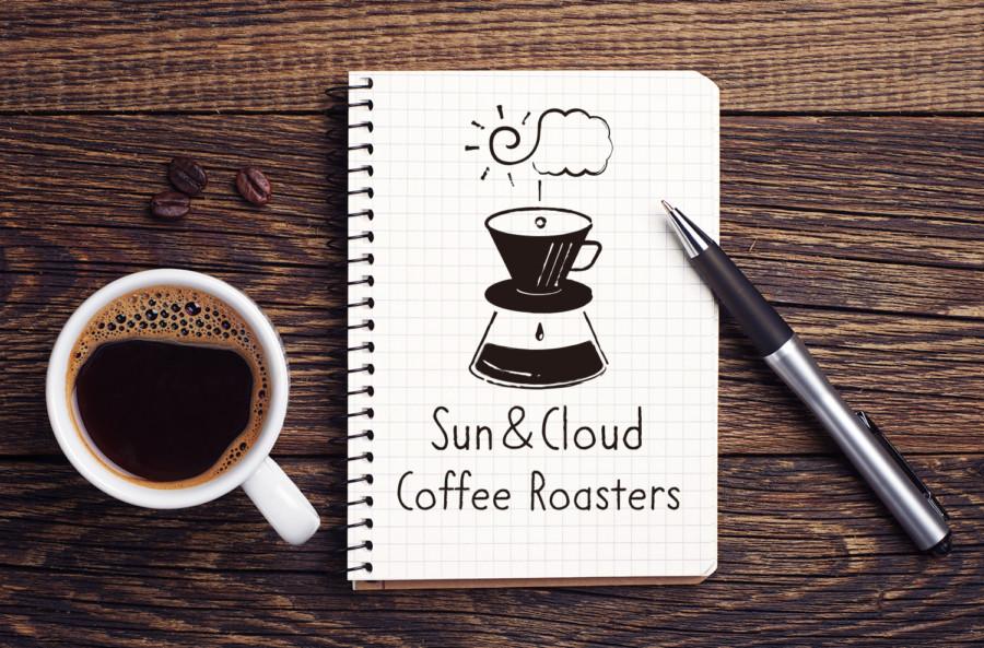 コーヒーロースターのロゴデザインの展開例