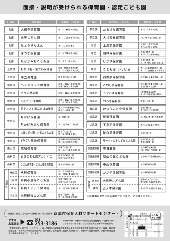 保育園面接会(2018年度)のチラシ_冬_裏