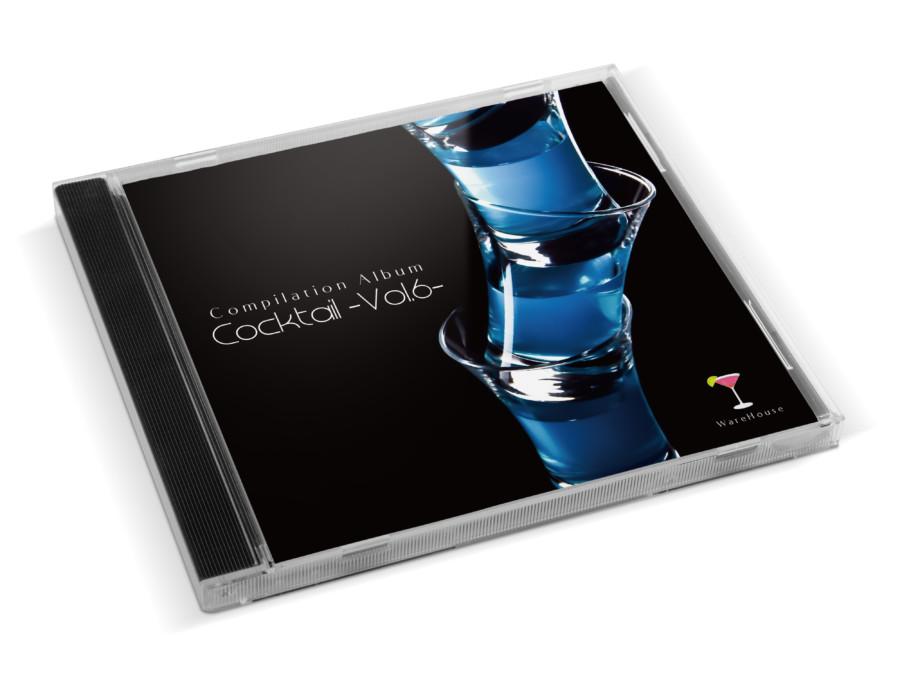 カクテルをテーマにしたコンピレーションアルバムのCDジャケットデザイン