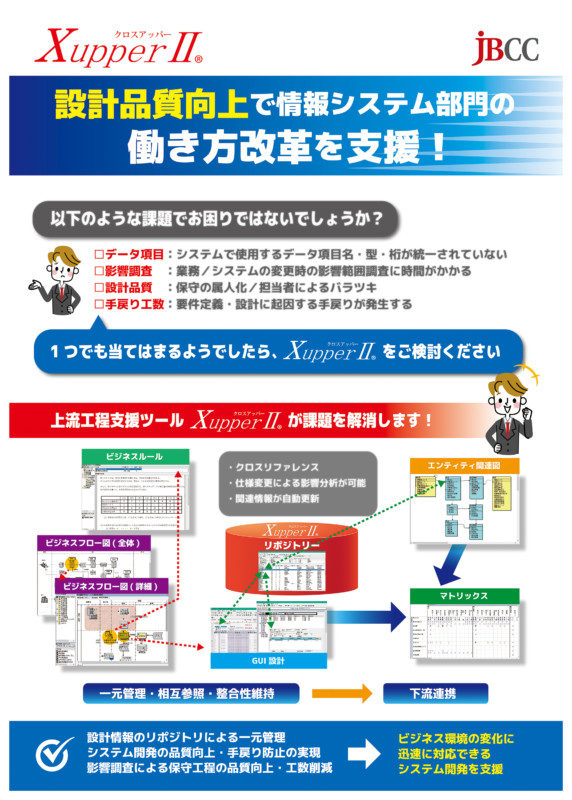 システム開発支援ツールの展示会向け電飾パネル_B1サイズ