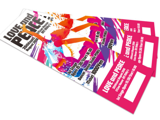 ストリートダンスのイベントチケットデザイン