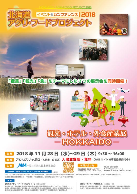 北海道のフード&観光産業展示会のポスター_A1サイズ