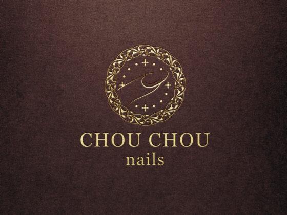 ネイルサロンの装飾性の高いロゴデザイン
