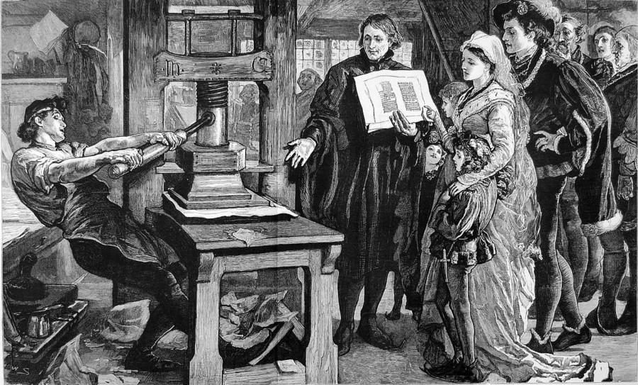 グーテンベルクの活版印刷機