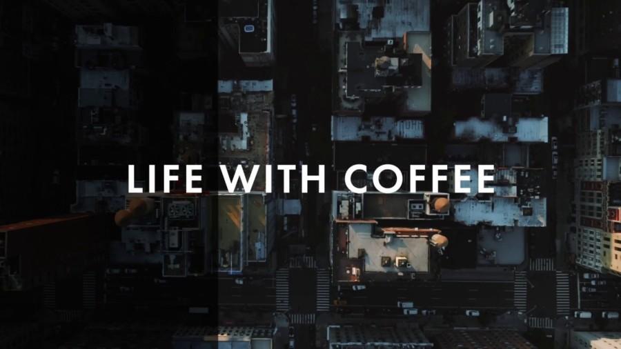 アーバンな雰囲気のコーヒーショップの動画編集例