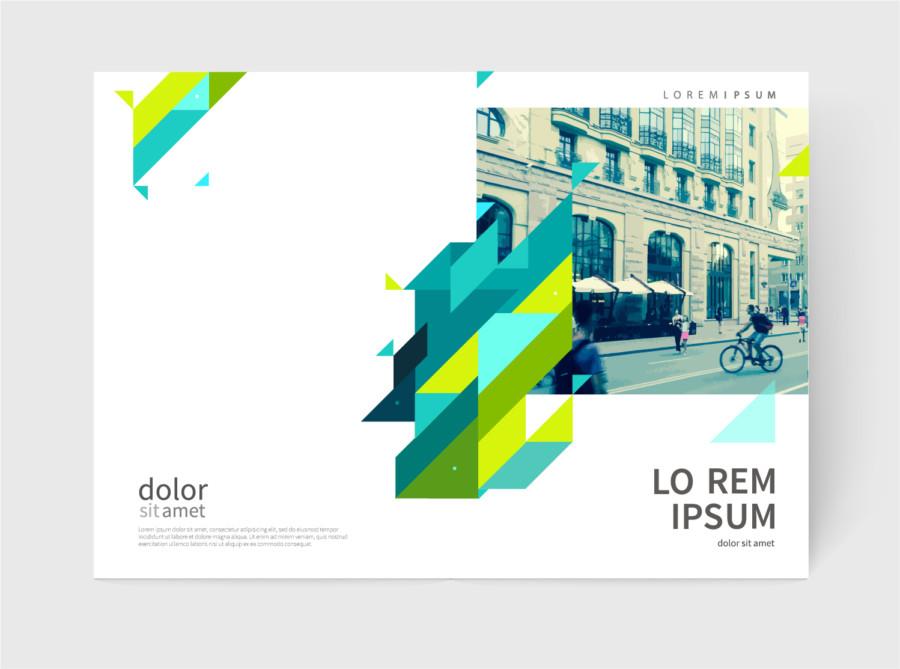 色のコントラストが鮮やかな冊子・雑誌レイアウトデザインについて