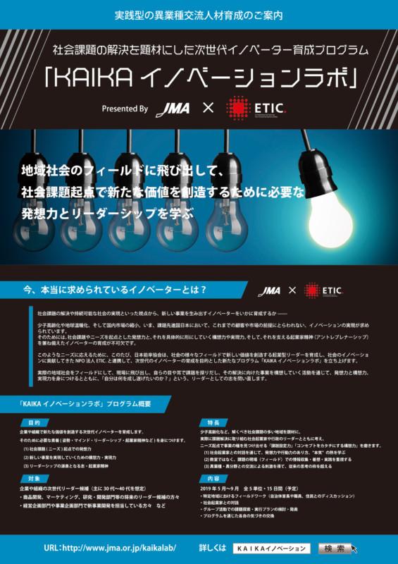 発想力とリーダーシップを学ぶイノベーションラボのポスター_A1サイズ