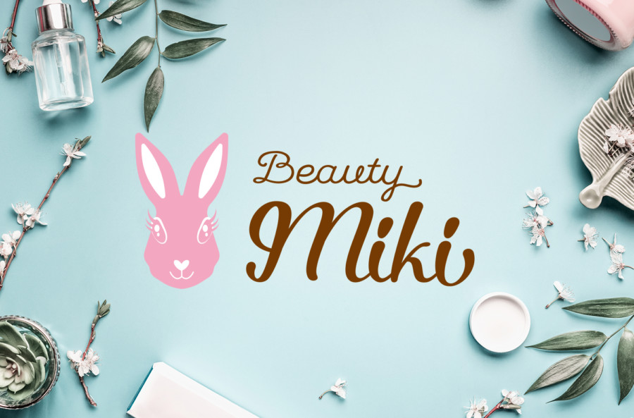 ウサギがモチーフのまつげサロンのロゴデザイン