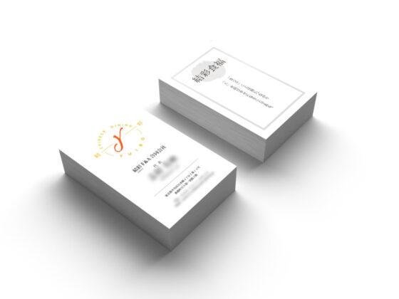 中華料理店などを経営する企業の名刺デザイン