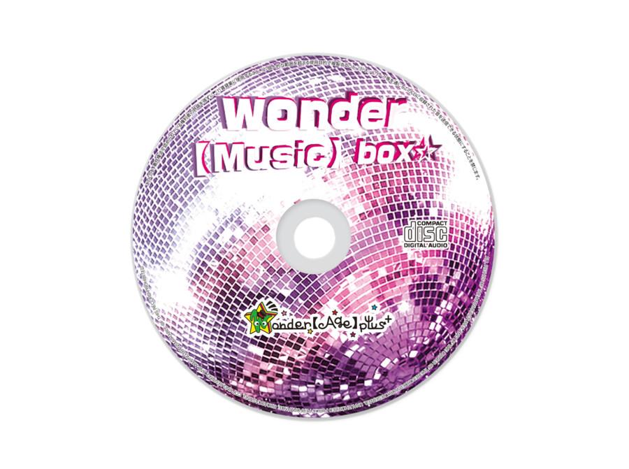 キラキラとした派手さで統一したCD盤面デザイン