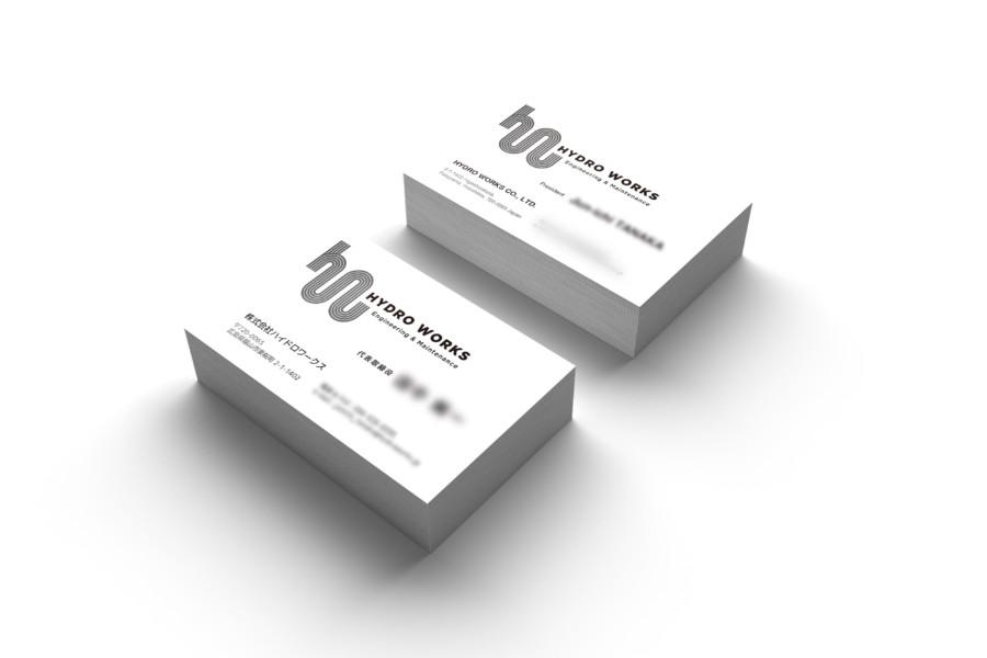 配管メンテナンス会社の名刺デザイン