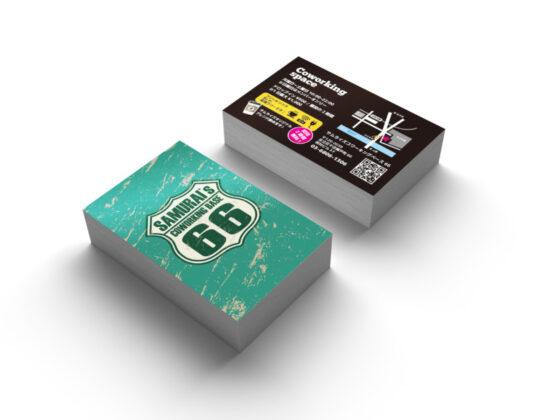 コワーキングスペースのショップカードデザイン