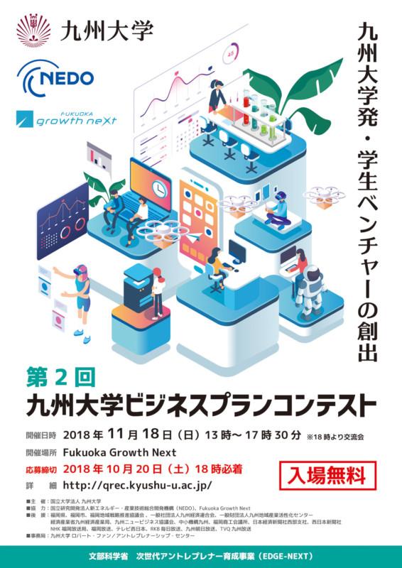 大学のビジネスプランコンテストのポスター_B2