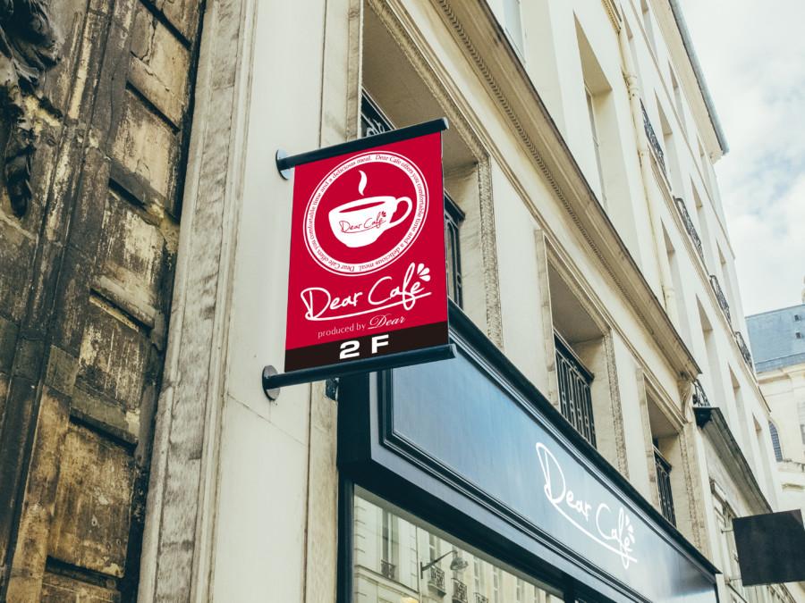 カフェの店頭看板デザインイメージ