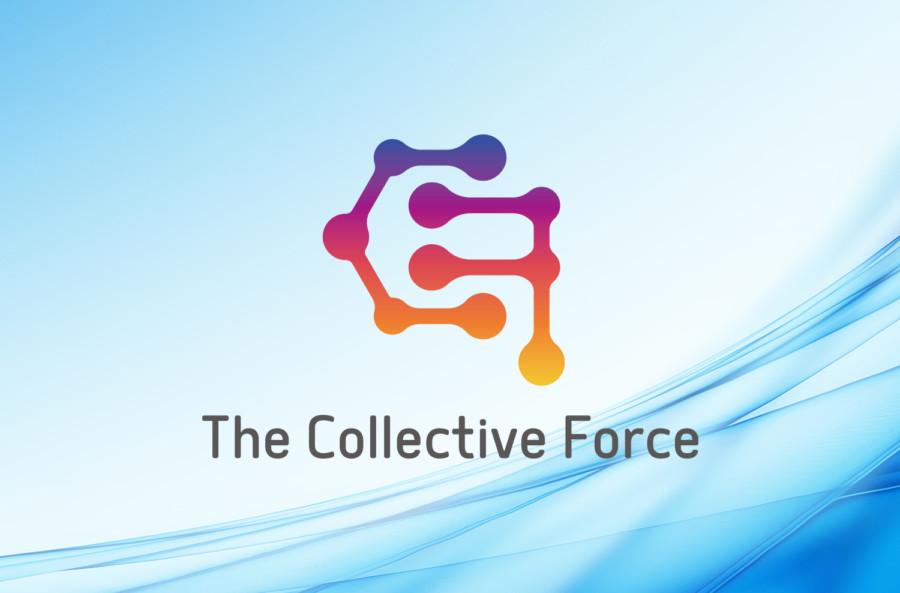 集合力を表現した企業ロゴデザイン