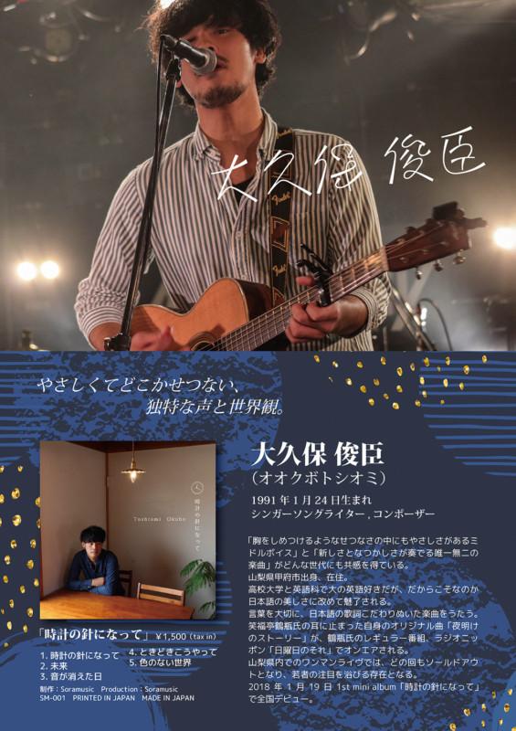 シンガーソングライターのプロフィールポスター_A2サイズ