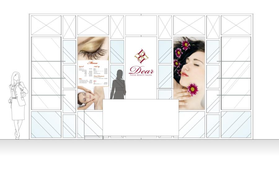 美容室の壁面パネルのデザイン